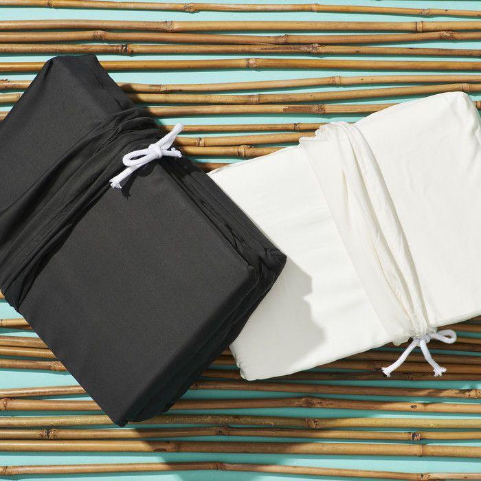 Life Basics Eco Bamboo Sheet & Pillow Set - White