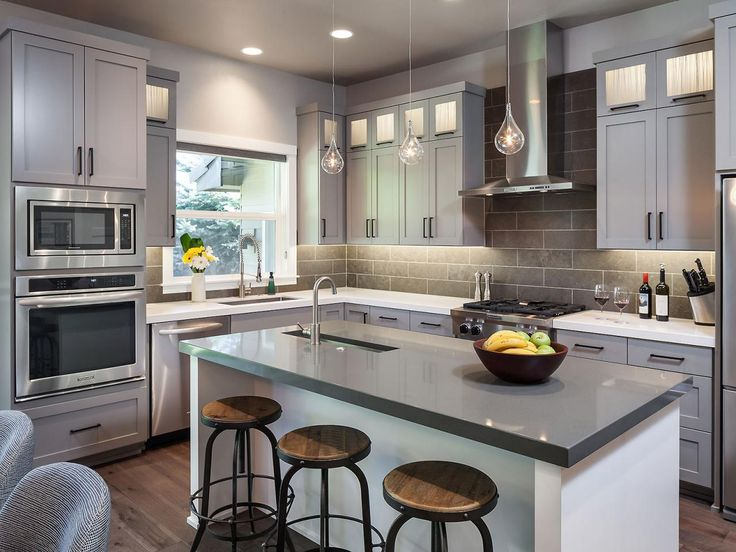 "This design is in the running for ""Best Kitchen"" on HGTV.com. Vote if you love it or view more design challengers here--> http://hg.tv/2161f"