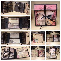 Prima Romantic mini flip album in a memory keeper box --Count The Happies--