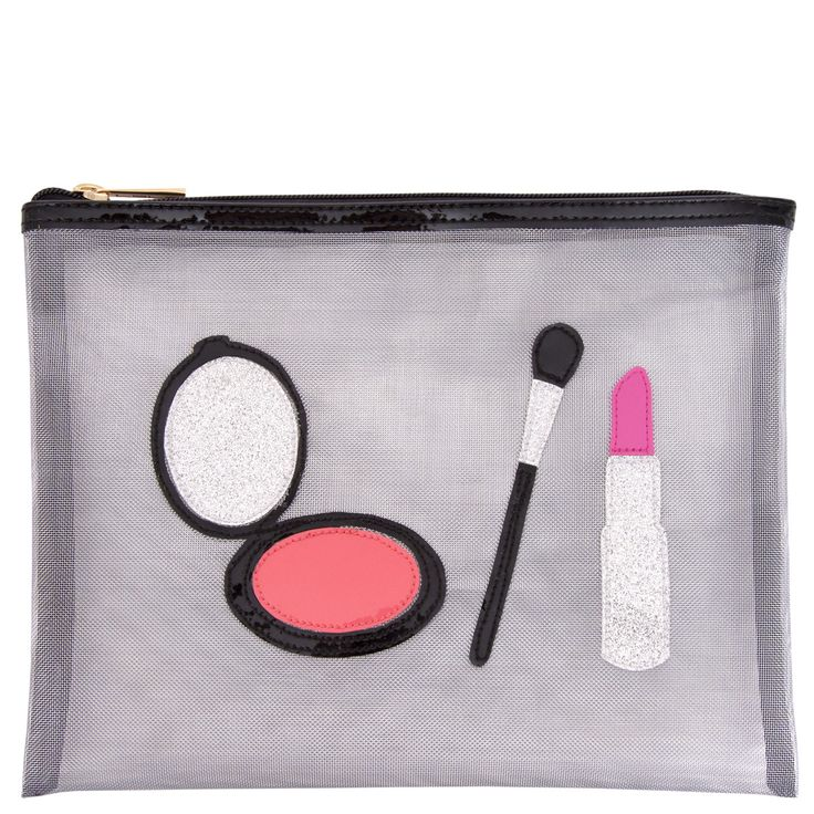 Stanley Silver Mesh Cosmetic Pouch