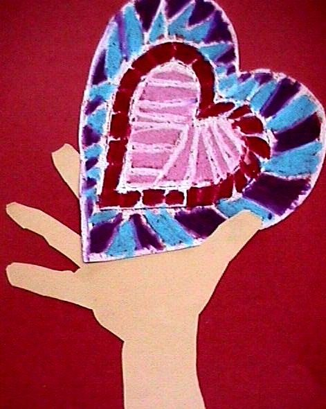 "Valentine's Day Craft ""I Give You My Heart"""