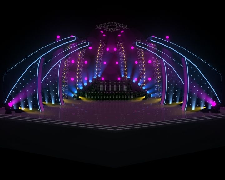 3D Indoor Concert Stage. This royalty free product is available for download now! 3D Indoor Stage / Concert Stage.  Use Maya 2011, render using Maya S...