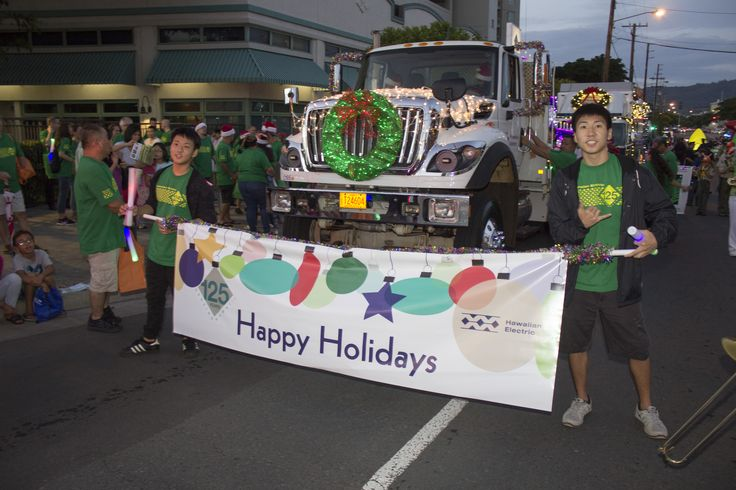 Hawaiian Electric continued its 125th Anniversary Celebration with an extra-special float in the Honolulu City Lights Electric Light Parade this year!