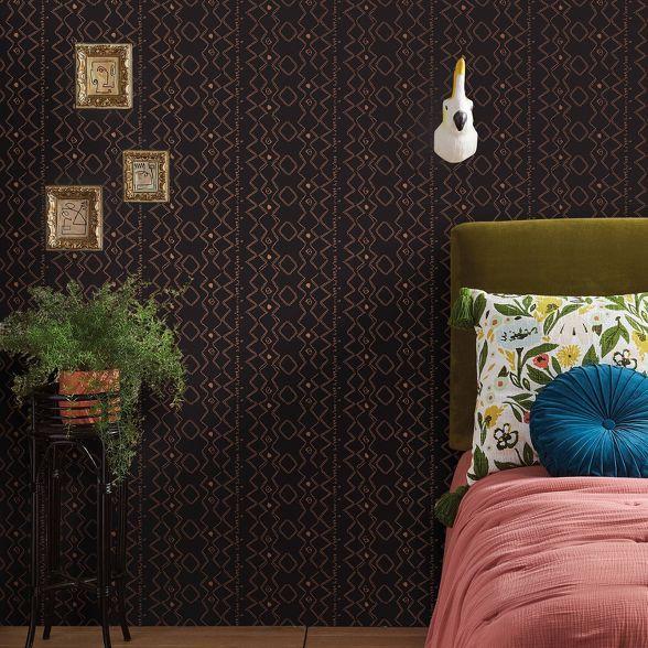 Metallic Ritual Global Peel Stick Wallpaper Brown Opalhouse Peel And Stick Wallpaper Opalhouse Vinyl Wallpaper