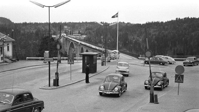 """Svinesund"" borderbridge between Sweden and southern Norway......."