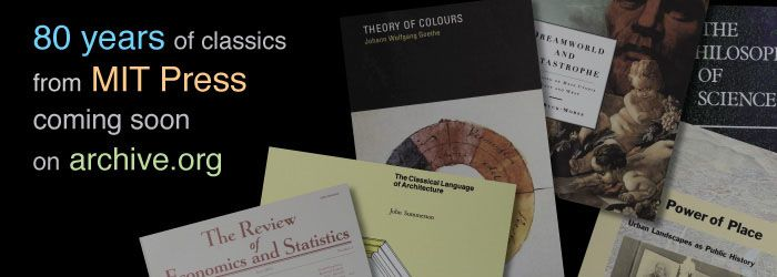 MIT Press Classics Available Soon at Archive.org | Internet Archive Blogs