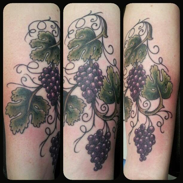 10 Best Grape Vine Tattoo Images On Pinterest Grape