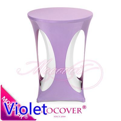 Violet lilac colour spandex cocktail table cover with hole lycra table cloth for wedding banquet party high bar table decoration #Affiliate