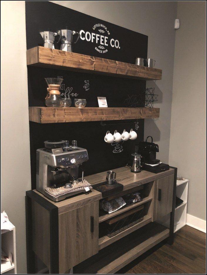 120 Best Home Coffee Bar Ideas For All Coffee Lovers 42 Myhomeku Com Coffeebarideas 120 Best Home Coffee Bar Wohnung Kuche Kaffeestation Kuchendekoration