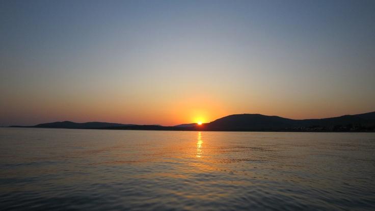 Alghero, tramonto su Punta Negra.