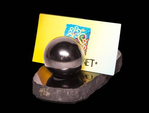 Business card with balls by ShungiteofKarelia on Etsy