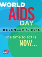 Graphics, Posters, Logo for 2015.  Find images, news, resources on the AIDS.gov World AIDS Day page.