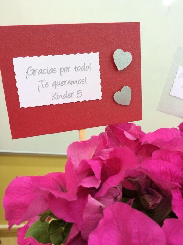 Tarjeta de agradecimiento para regalar a un profesor/a.