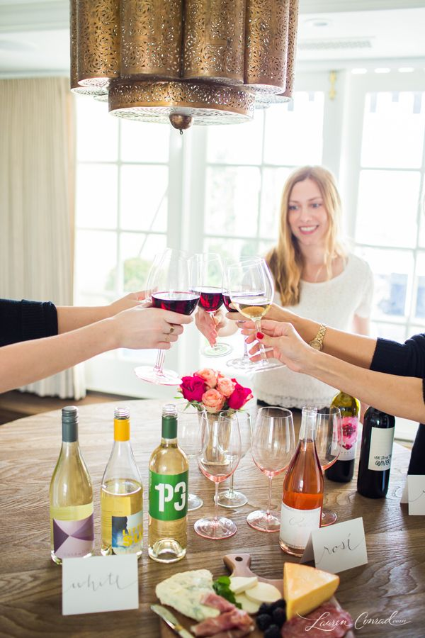 How to Host a Girl's Wine Tasting Party {cheers!}