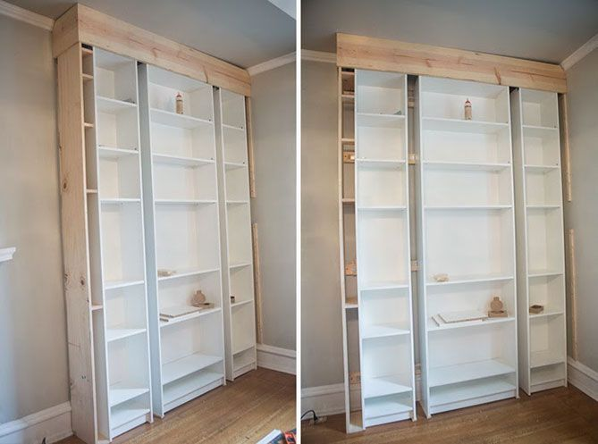 How To Transform Simple Billy Shelves Into A Stylish Vintage Library Billy Library Shelves Simple Stylish Transfo In 2020 Ikea Bookshelves Ikea Built In Best Ikea