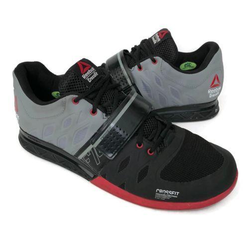 Reebok-Crossfit-Men-039-s-Size-11-5-Sneakers-Lifters-Red-Black-Grey-Cross-Trainers