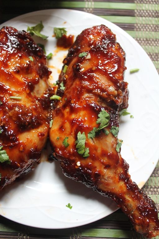 how to cook bbq chicken thighs in oven