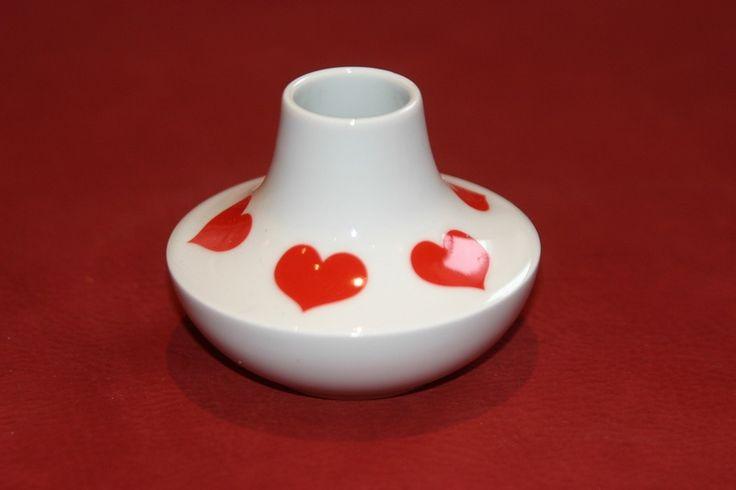 Vintage Vasen - Minivase Vintage Herzchen  Seltmann Weiden - ein Designerstück von Landmum bei DaWanda