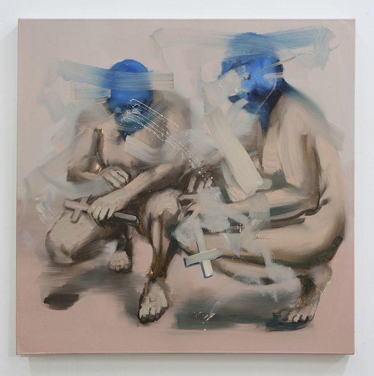 One side-other side III  Artista: Bartosz Beda, óleo sobre lienzo, 77x77cm, 2014   Artist: Bartosz, oil on canvas, 77x77cm, 2014 (300dpi)  #art #arte #contemporaryartwork #pintura #paint #bac #dibujo #drawing