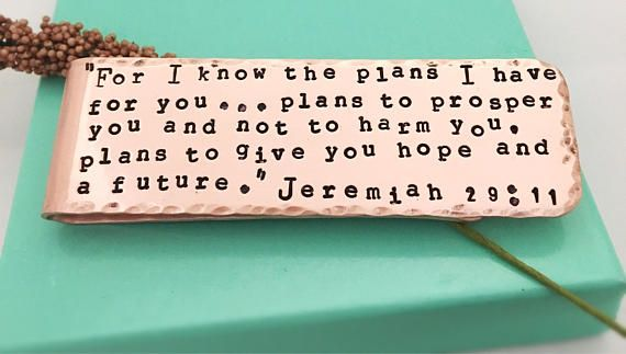 Money Clip Jeremiah 29:11 Personalized Money Clip Scripture