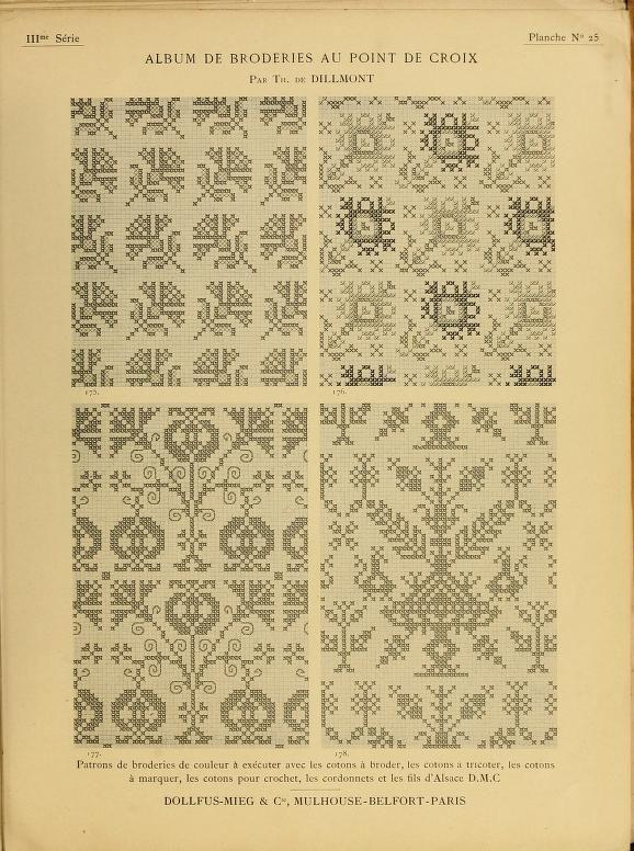Album de broderies au point de croix. Very old, online access through Open Library