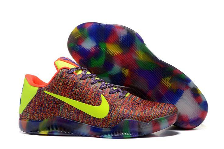 Cheap Nike Kobe 11 Elite Rainbow Green Red Blue Yellow Red