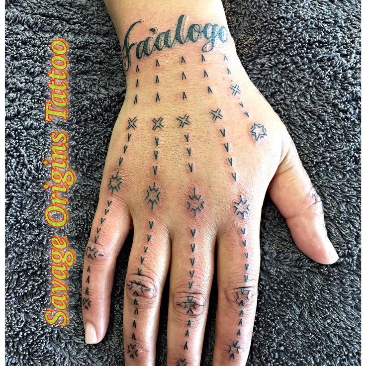 Samoan hand tattoo