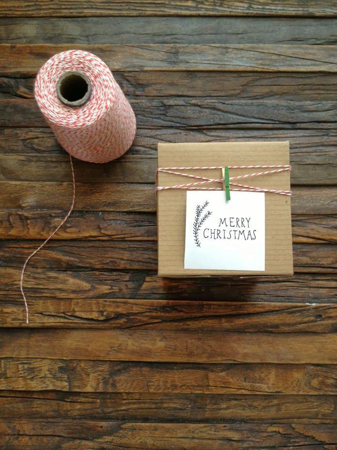 Emballage de Noël simple avec carte de Noël // Super simple DIY Christmas…