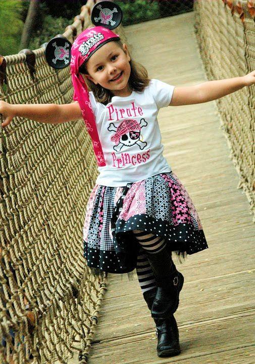 Pirate Princess Stripework Twirl Skirt. $30.00, via Etsy.