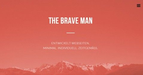 The Brave Man is a clean site having combination of red and grey color, big image, responsive layout and jquery work. http://minimalistgallery.com/