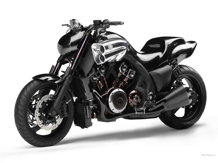 Yamaha VMax Gen 2 -- muscle bike aka sport cruiser that even looks full of muscle.