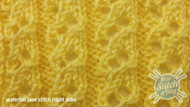 How to knit the Waterfall Lace Stitch. This would make a very nice scarf.