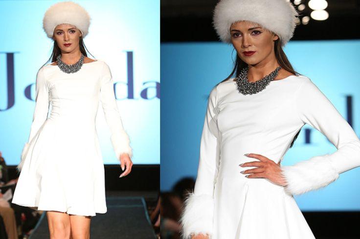 Winter white skater dress from Genese London @ Jourdan Of Belfast www.jourdanonline.net