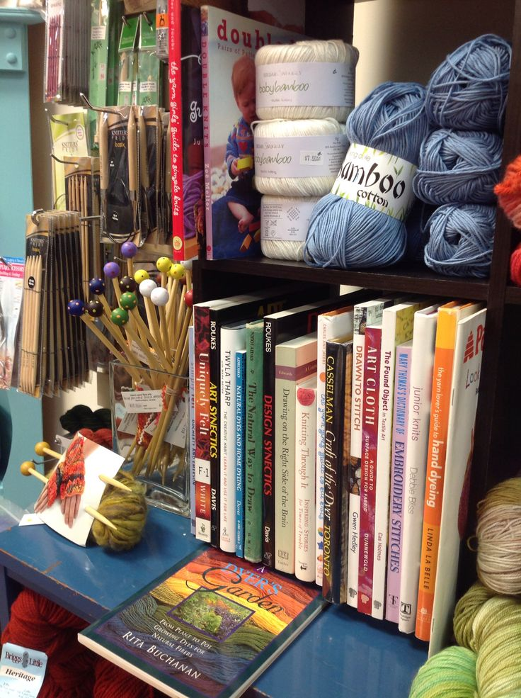 Previously loved books & knitting needles available at MALA