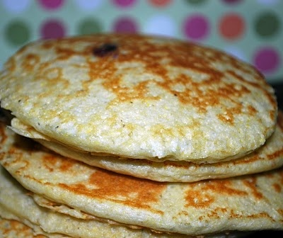Good Thymes and Good Food: Blueberry Cornmeal Pancakes