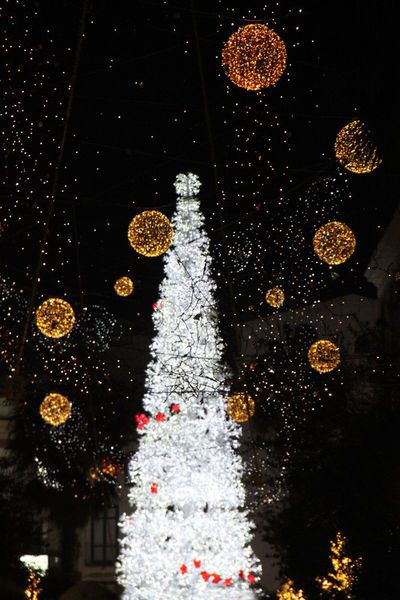 Christmas in Salerno, luminarie di Salerno, Italy