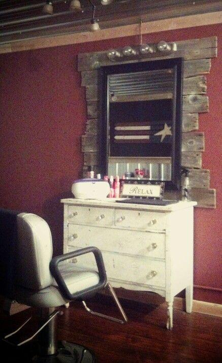 rustic hair salon pictures | Rustic salon station