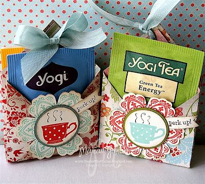 Studio M by Marian: How To: Tea for YOU Tea Bag Holder Video TuTorial with Brenda Keenan