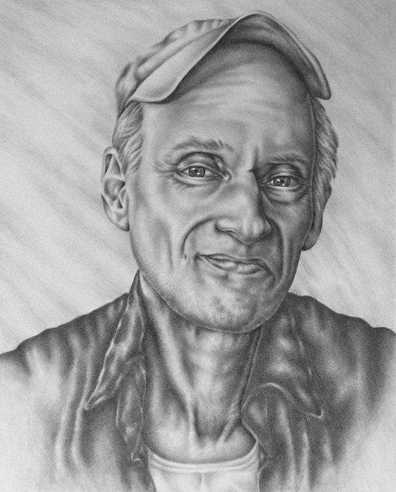 Original Pencil Portrait Drawing of ONE PERSON. You may choose if you want the eyes in color at no extra charge.  This is a sample image of a