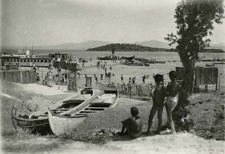 Burgaz island beach 1948. Prince Islands. Istanbul. Turkey.