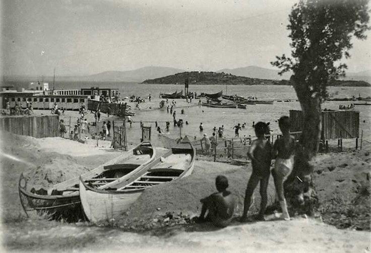 Burgaz island beach 1948. Prince Islands. Istanbul. Turkey.