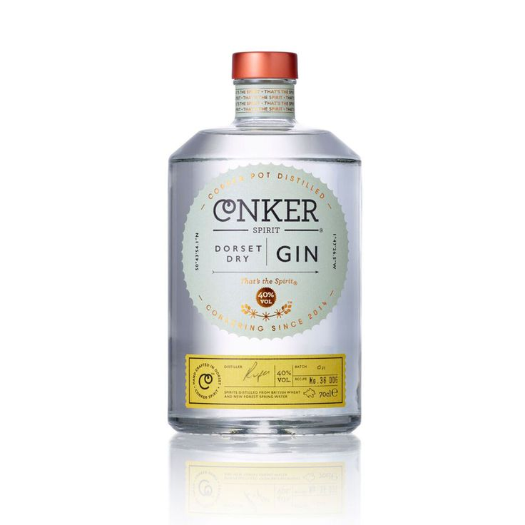 Conker Dorset Dry Gin - intricate gin comprised of ten botanicals that balances juniper bite and cassia spice with the fresh Dorset notes of elderberries, samphire and handpicked gorse flowers