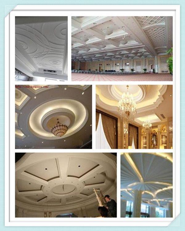Mordern latest pop royal hall roof decoration grg false for Roof false ceiling designs
