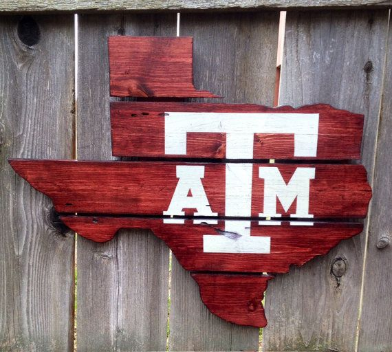 Recycled Pallet Texas A&M Aggies on Etsy, $100.00