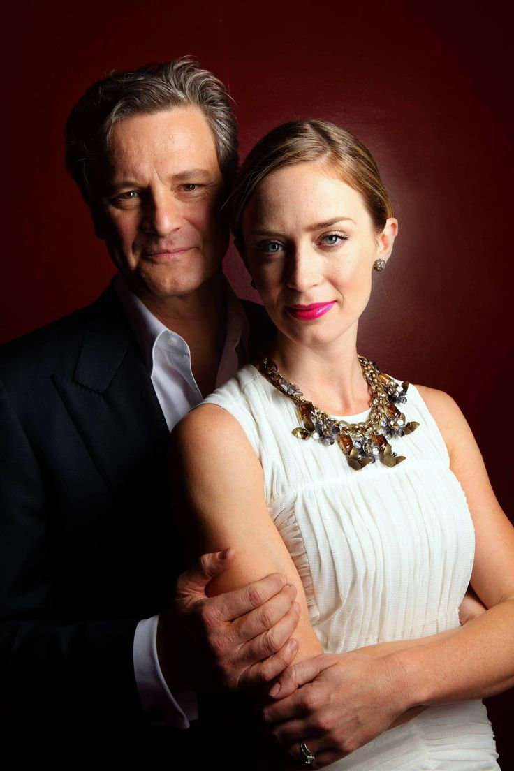 "Colin Firth and Emily Blunt, stars of ""Arthur Newman."""