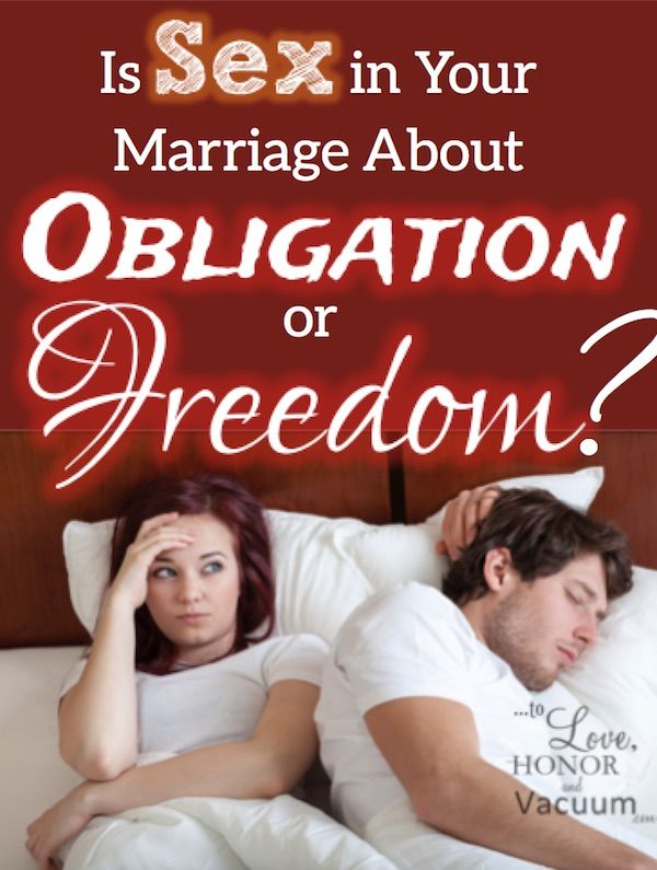 Obligation sex isn't sex in marriage! A way through to real freedom where sex happens because of love, not obligation.