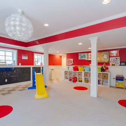 home daycare decorating ideas for basement | Nice remodel of a large basement for daycare ... |