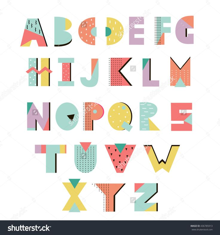 stock-vector-creative-summer-alphabet-memphis-style-geometric-letters-s-s-style-vector-isolated-436785913.jpg (1500×1600)