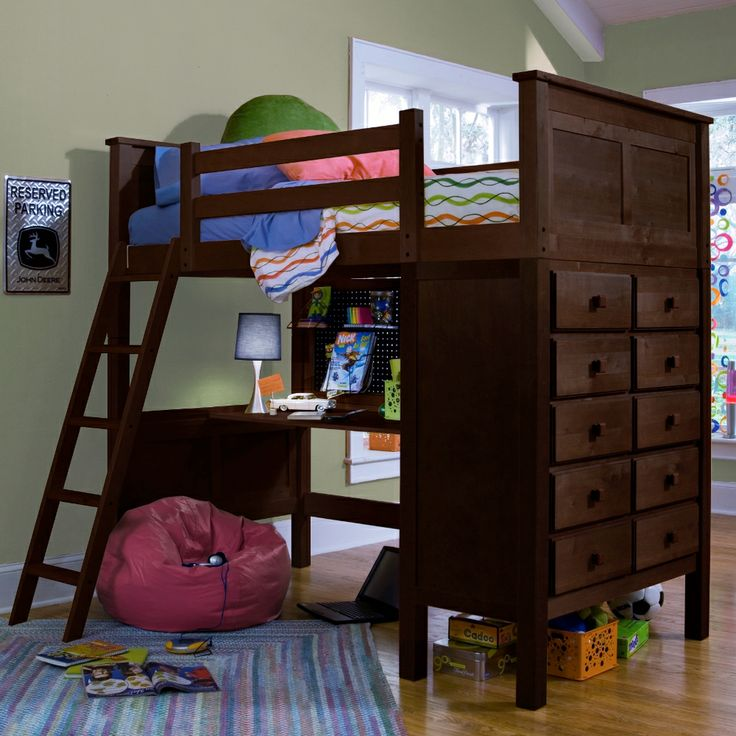 Virtual Dorm Room Design: Kenai Loft Bed With Dresser