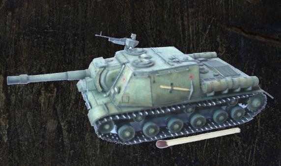 WWII Soviet ISU-152 Armored Self-Propelled Gun Ver.4 Free Paper Model Download…